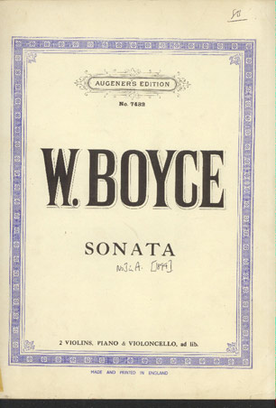 Image for Sonata No 3 in a for 2 Violins, Piano & Violoncello, Ad Lib