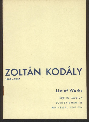 Image for List of Works