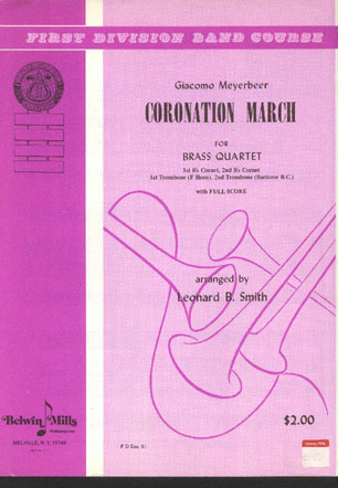 Image for Coronation March for Brass Quartet.
