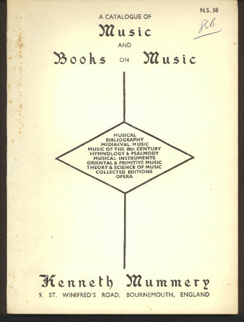 Image for A Catalogue of Music and Books on Music