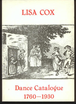 Image for Dance Catalogue 1760-1930. (Catalolgue B1)