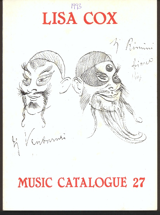 Image for Music Catalogue 27, 28, 29