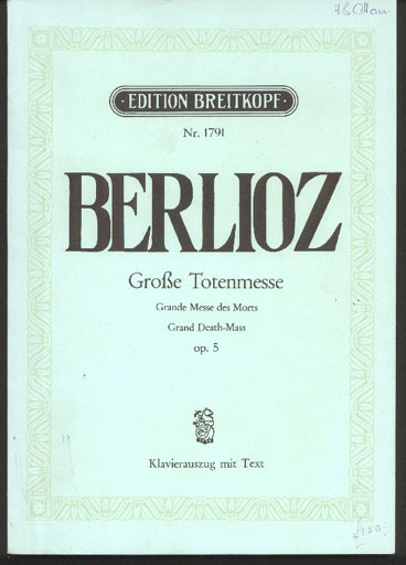 Image for Große Totenmesse - Grande Messe De Morts - Grand Death-Mass, Opus 5,