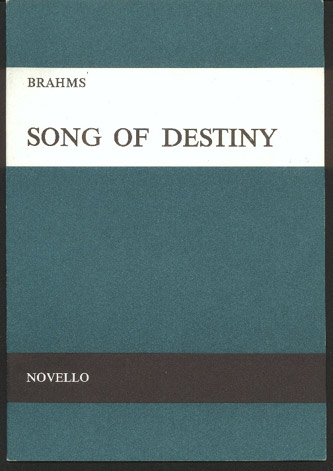 Image for Song of Destiny   Schicksalied   Opus 54 For SATB Chorus & Orchestra
