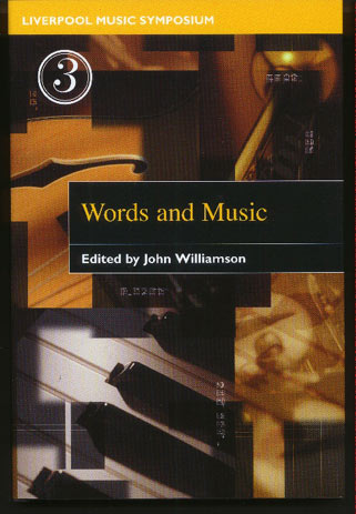 Image for Words and Music