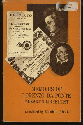 Image for Memoirs of Lorenzo Da Ponte: Mozart's Librettist