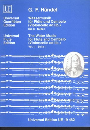 Image for The Water Music for Flute & Cembalo (violoncello ad lib) vol I suite I