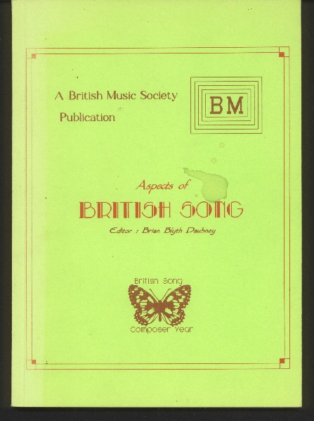 Image for Aspects of British Song. A Miscellany of Essays.