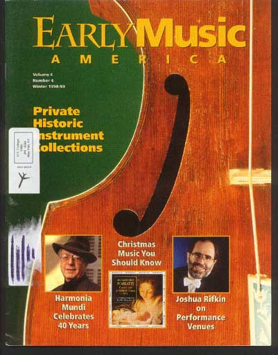 Image for Early Music America the Magazine of Historical Performance Volume 4