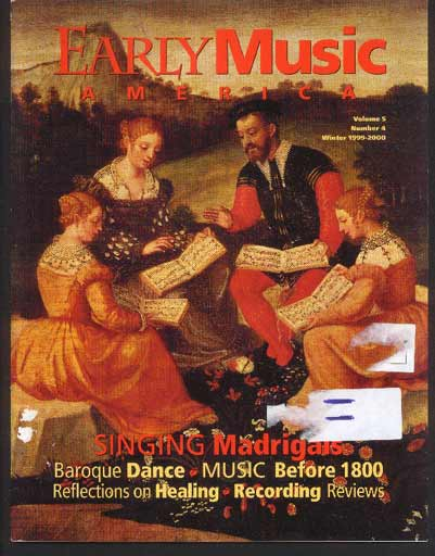 Image for Early Music America the Magazine of Historical Performance Volume 5