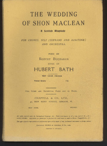 Image for The Wedding of Shon Maclean. A Scottish Rhapsody, for Chorus, Soli (Soprano and Baritone) and Orchestra. Poem by Robert Buchanan.