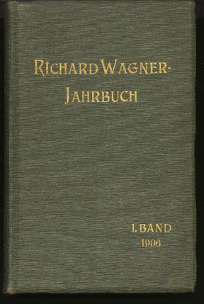 Image for Richard Wagner - Jahrbuch. Erster Band