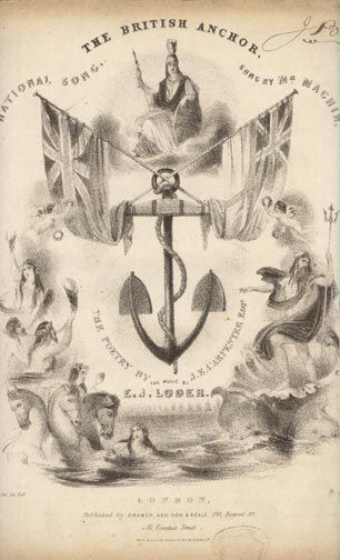 Image for The British Anchor. National Song.