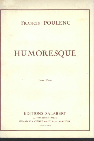 Image for Humoresque Pour Piano