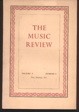 Image for The Music Review: Volume V Numbers 1,2.3 & 4. with Index