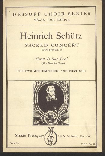Image for Sacred Concert (First Book No 5) Great is Our Lord (Der Herr Ist Gross)