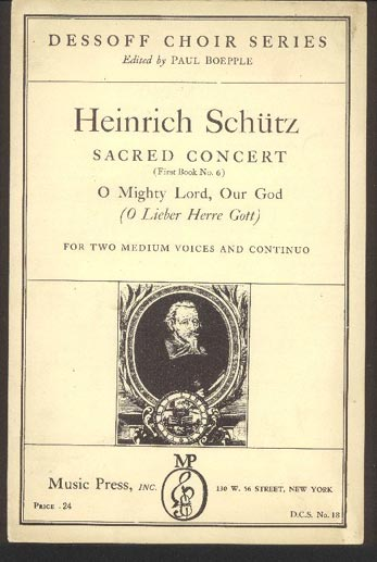 Image for Sacred Concert (First Book No 6) O Mighty Lord, Our God (O Lieber Herre Gott)