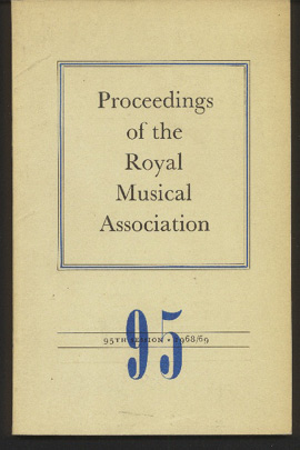 Image for Proceedings of the Royal Musical Association: Volume 95, 1968/69