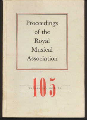 Image for Proceedings of the Royal Musical Association: Volume 105, 1978/1979