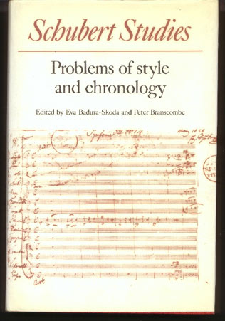 Image for Schubert Studies. Problems of Style and Chronology