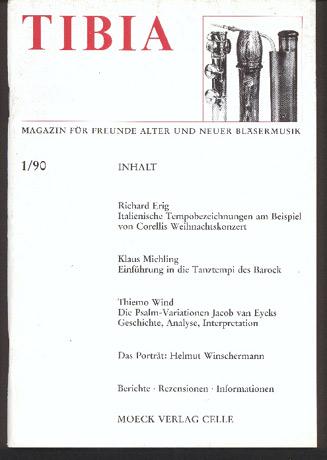 Image for Tibia: Magazin Für Freunde Alter Und Neuer Bläsermusik.