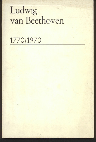 Image for Ludwig Van Beethoven 1770-1970