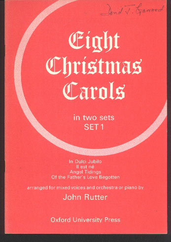 Image for Eight Christmas Carols ... Set 1 & 2 ... Arranged for Mixed Voices and Orchestra or Piano