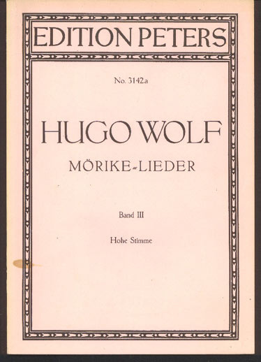 Image for Mörike-Lieder Volume III (Voice and Piano)