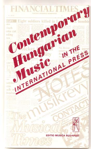 Image for Contemporary Hungarian Music in the International Press