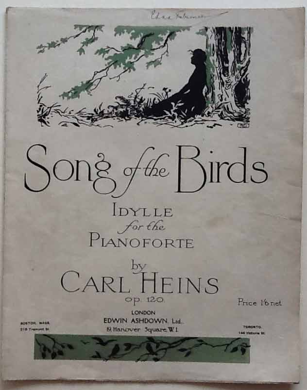 Image for Song of the Birds. Idylle for the Pianoforte. Op. 120 (Gesang Der Vö? Glein)