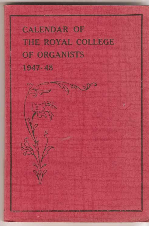 Image for Calendar of the Royal College of Organists 1947-48