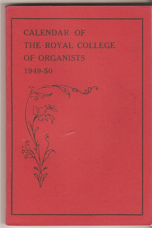 Image for Calendar of the Royal College of Organists 1949-50