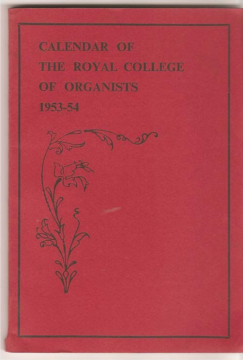 Image for Calendar of the Royal College of Organists 1953-54