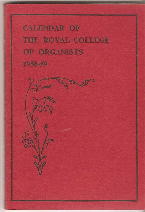 Image for Calendar of the Royal College of Organists 1958-59