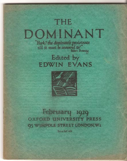 Image for The Dominant - Volume II No 1. February 1929