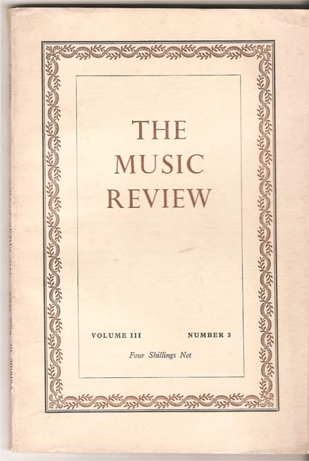 Image for The Music Review. Volume Three
