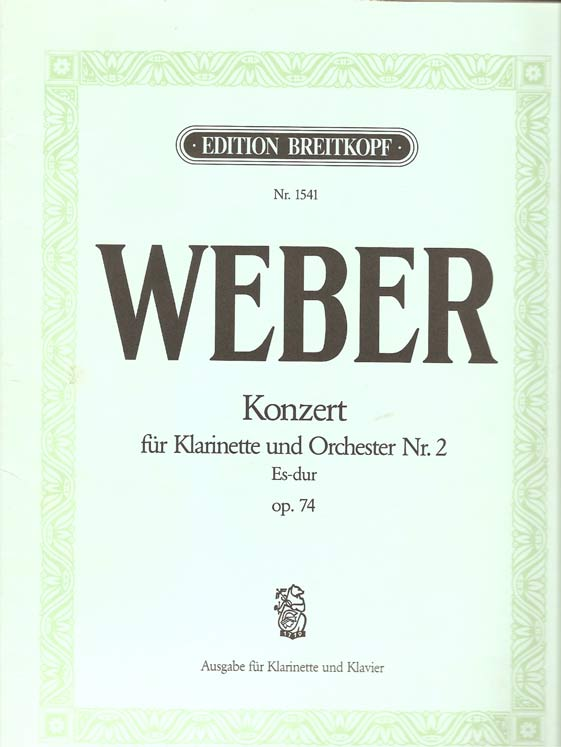 Image for Konzert Für Klarinette Und Orchester Nr 2 (Concerto for Clarinet and Orchestra No 2) Op 74. Edition for Clarinet and Piano by Friedrich Hermann