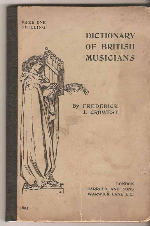 Image for The Dictionary of British Musicians, from the Earliest Times to the Present;