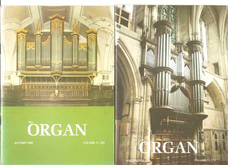 Image for The Organ: A Quarterly Magazine. Volume 71