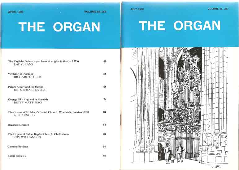 Image for The Organ: A Quarterly Magazine. Volume 65