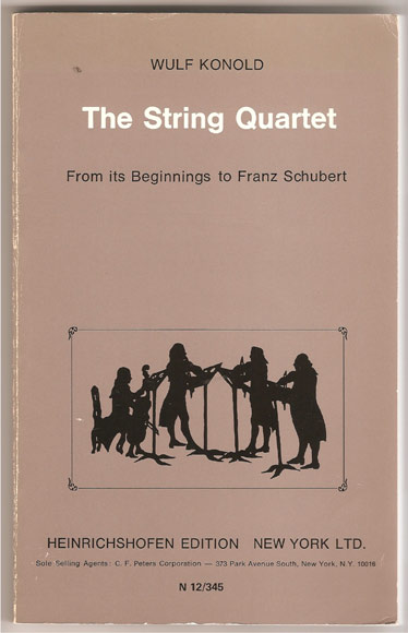 Image for The String Quartet, from its beginnings to Franz Schubert