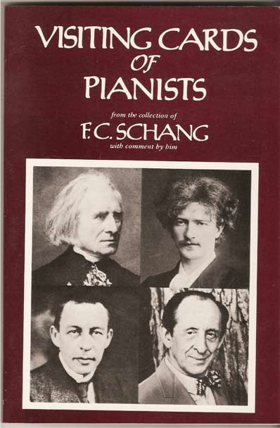 Image for Visiting Cards of Pianists from the Collection of F. C. Schang