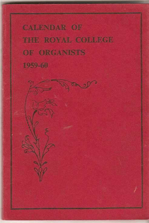 Image for Calendar of the Royal College of Organists 1959-60