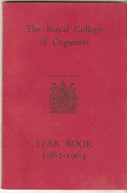 Image for The Royal College of Organists Yearbook 1963-1964