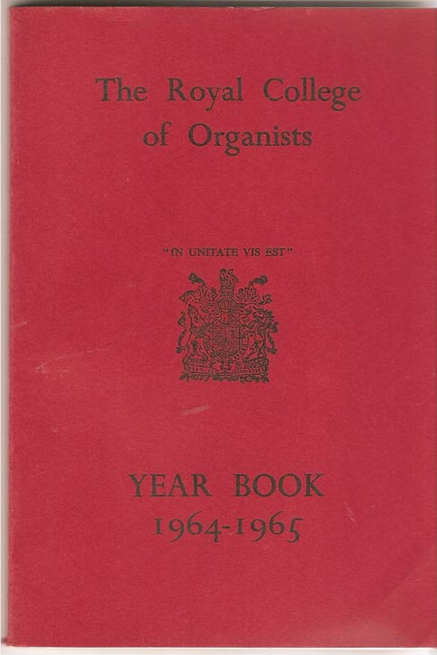 Image for The Royal College of Organists Yearbook 1964-1965