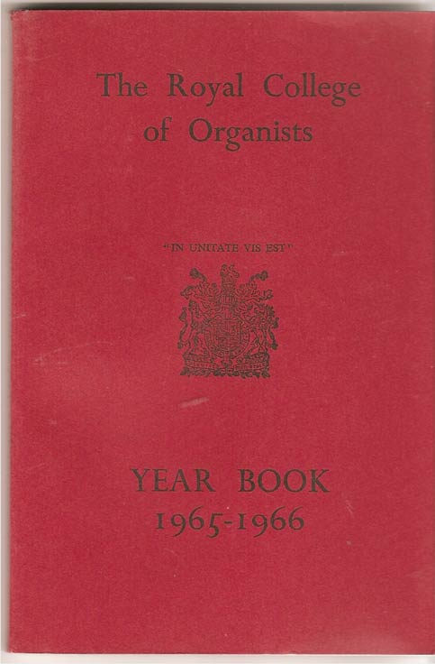 Image for The Royal College of Organists Yearbook 1965-1966