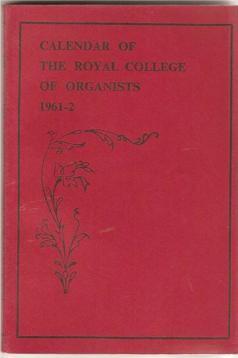 Image for Calendar of the Royal College of Organists 1961-2