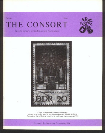 Image for The Consort: Annual Journal of the Dolmetsch Foundation Number 40 1984