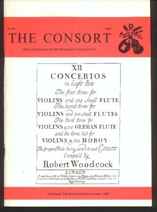 Image for The Consort: Annual Journal of the Dolmetsch Foundation Number 44 1988