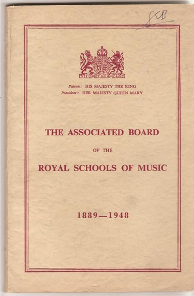 Image for The Associated Board of the Royal Schools of Music 1889-1948